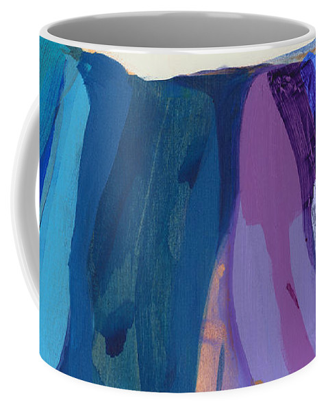 Abstract Coffee Mug featuring the painting With Joy by Claire Desjardins