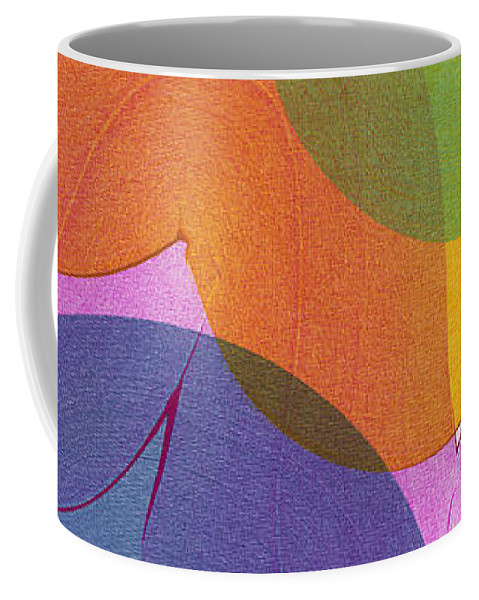 Abstract Coffee Mug featuring the painting With Love by Claire Desjardins