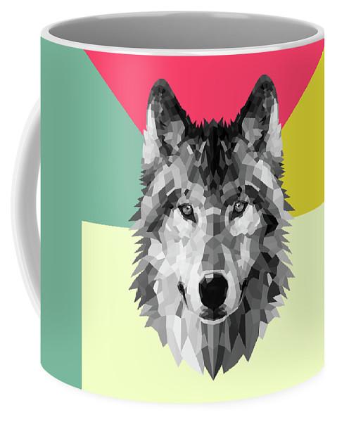Wolf Coffee Mug featuring the digital art Wolf by Naxart Studio