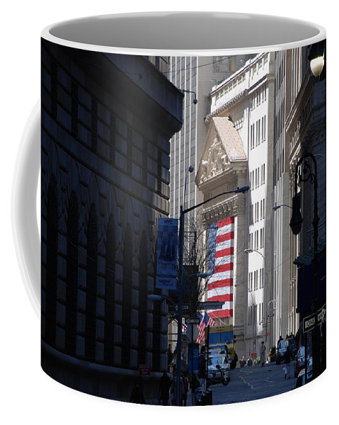 Wall Street Coffee Mug featuring the photograph Rise And Fall Of America Avenue by Rob Hans