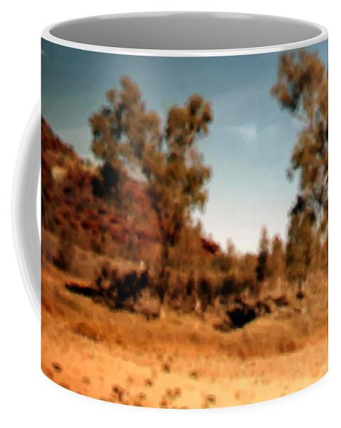Daintree Australia Coffee Mug featuring the mixed media Daintree Australia by Asbjorn Lonvig