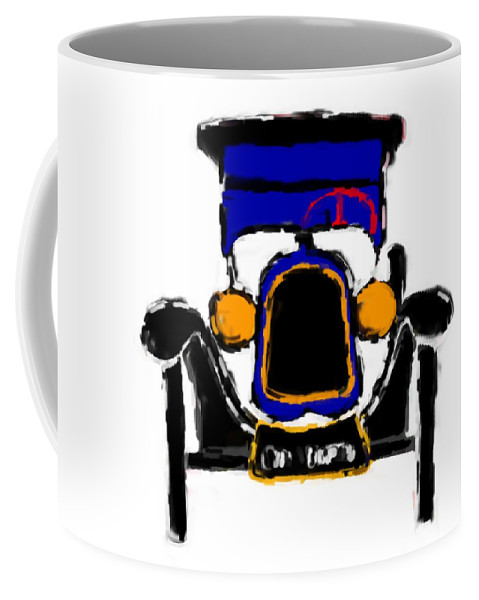 F1 Coffee Mug featuring the mixed media F1 by Asbjorn Lonvig