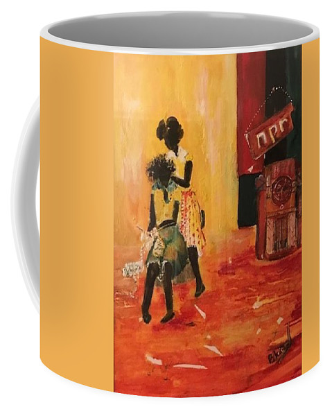 Figurative Coffee Mug featuring the painting Grooving by Peggy Blood