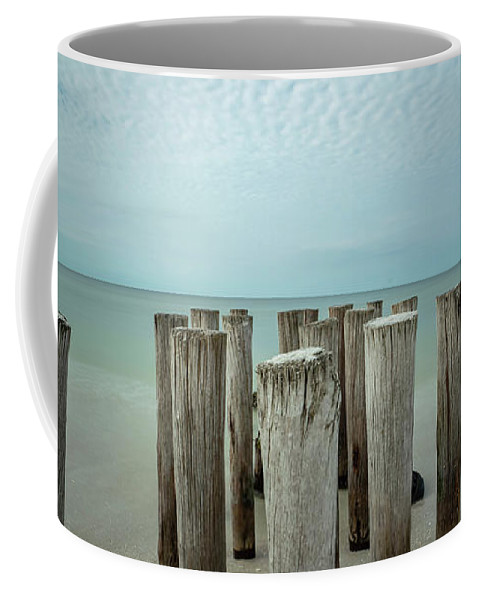Naples Florida 2021 Coffee Mug featuring the photograph Naples Pilings 2021 by Joey Waves
