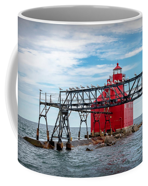 Lighthouse Coffee Mug featuring the photograph 20-0607-0041 by Anthony Roma