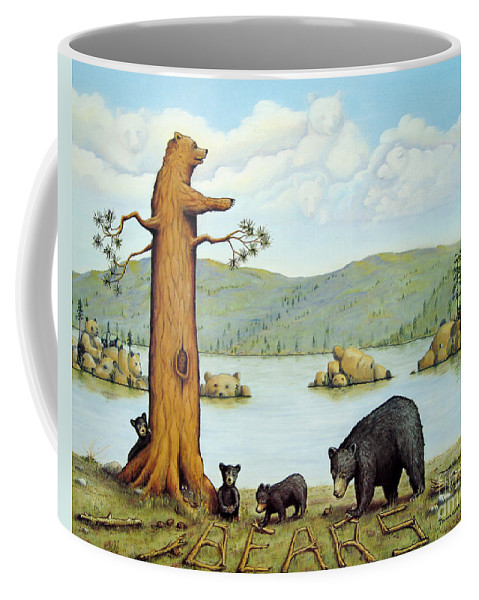Bears Coffee Mug featuring the painting 27 Bears by Jerome Stumphauzer