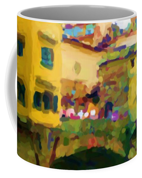 Florence Coffee Mug featuring the mixed media Florence by Asbjorn Lonvig