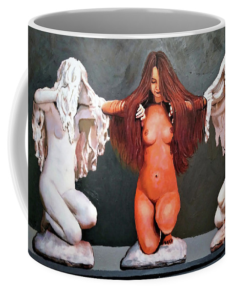 Women Coffee Mug featuring the painting 3 In One by Jose Manuel Abraham