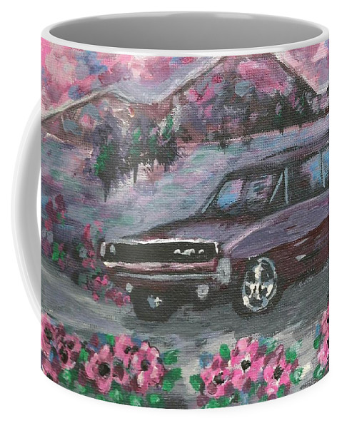 68 Dodge Charger Coffee Mug featuring the painting 68 Dodge Charger by Monica Resinger