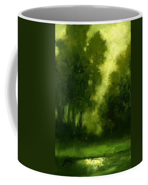 Miniature Oil Paintings Coffee Mug featuring the painting A Hazy Day by Jim Gola