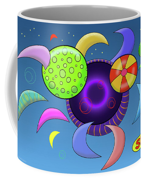 Alternate Universe Coffee Mug featuring the digital art A Hole in the Universe by Susan Bird Artwork