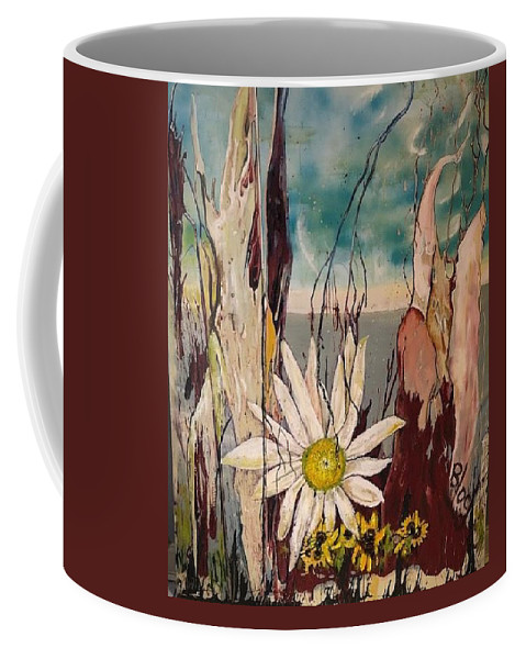 Trees Coffee Mug featuring the painting A Moment by Peggy Blood