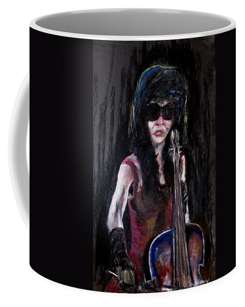 Woman Coffee Mug featuring the painting A New Sensation by Tom Conway