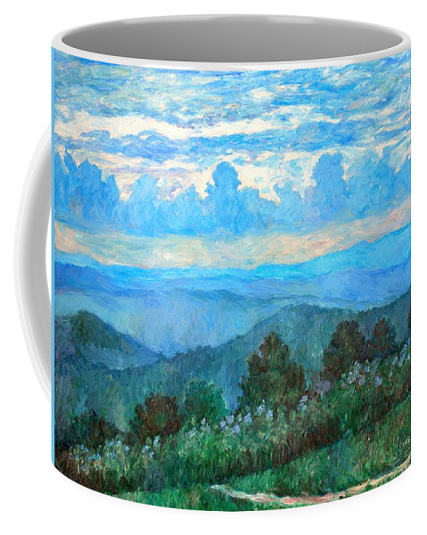 Landscape Coffee Mug featuring the painting A Path to Rock Castle Gorge in the Evening by Kendall Kessler