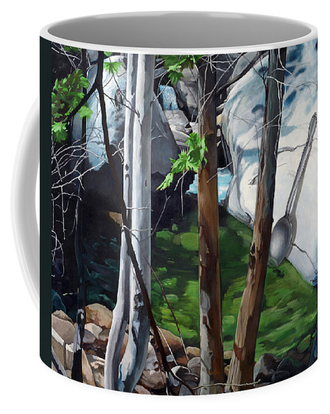 Landscape Coffee Mug featuring the painting A Taste of Nature by Snake Jagger