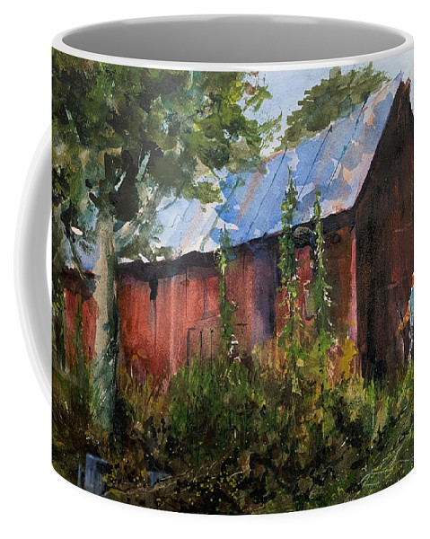 Rural. Barn Coffee Mug featuring the painting Abandoned at Aum Creek by Charles Rowland