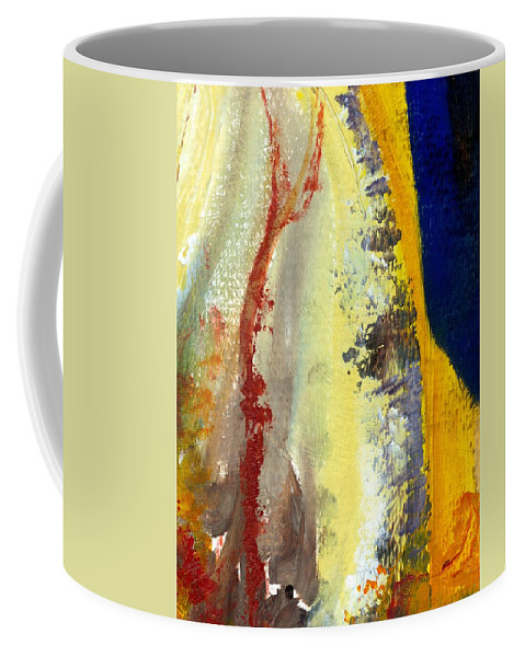 Rustic Coffee Mug featuring the painting Abstract Color Study ll by Michelle Calkins