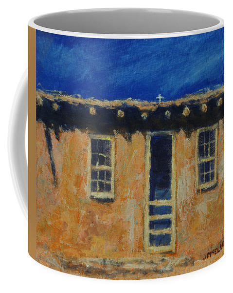 Acoma Coffee Mug featuring the painting Acoma by Jerry McElroy