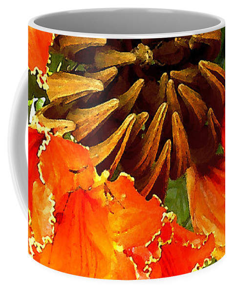 Hawaii Iphone Cases Coffee Mug featuring the photograph African Tulip Tree by James Temple