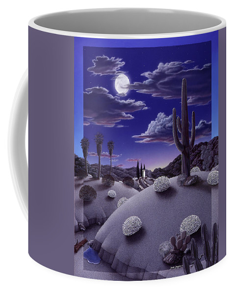 Desert Coffee Mug featuring the painting After the Rain by Snake Jagger