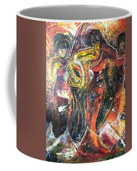 Women Coffee Mug featuring the painting Ain't No Mountain High Enough by Peggy Blood