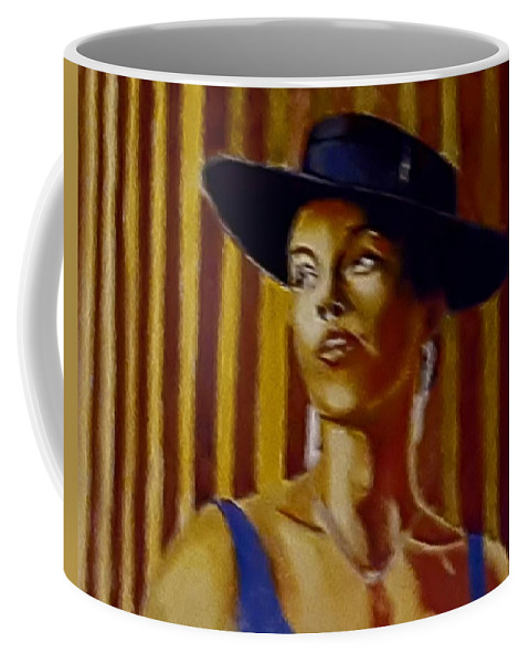 Portrait Coffee Mug featuring the painting Alica by Andrew Johnson