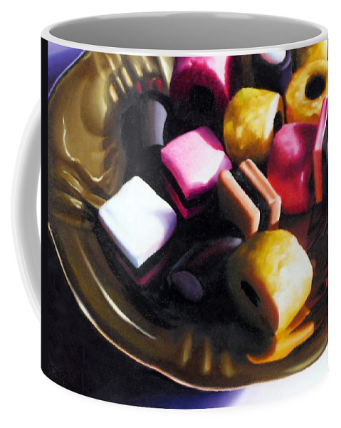 Allsorts Coffee Mug featuring the pastel Allsorts of Colour by Dianna Ponting
