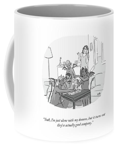 Alone With My Demons Coffee Mug