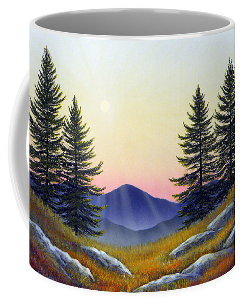 Landscape Coffee Mug featuring the painting Alpine Meadow by Frank Wilson