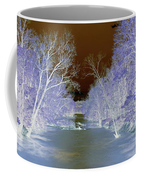 Abstract Coffee Mug featuring the photograph An Icy Path by Holly Morris