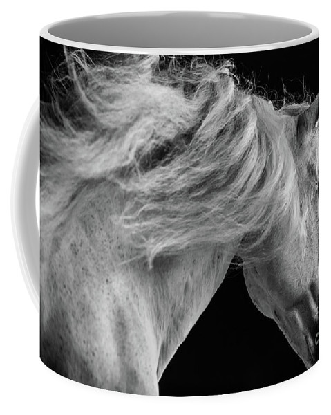 Horse Coffee Mug featuring the photograph Andalusian Motion by Shelley Paulson