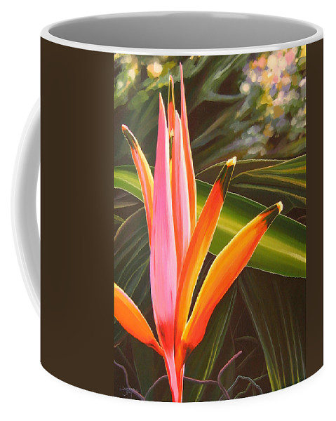 Botanical Coffee Mug featuring the painting Another World by Hunter Jay