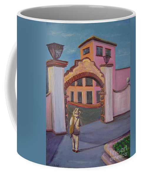 Mexico Coffee Mug featuring the painting Arco de Jiutepec by Lilibeth Andre