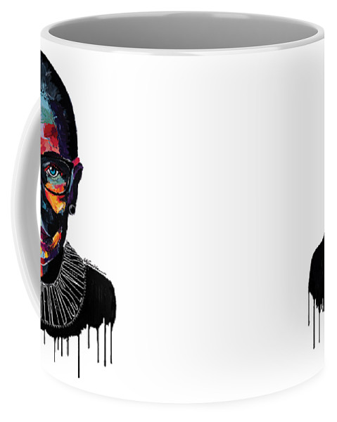 Portrait Coffee Mug featuring the painting Dissent by LA Smith