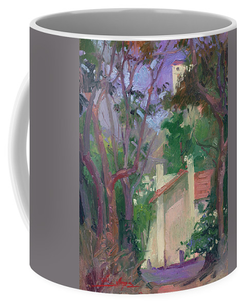 Pleinair Painting Coffee Mug featuring the painting At Jourey's End Plein Air by Betty Jean Billups
