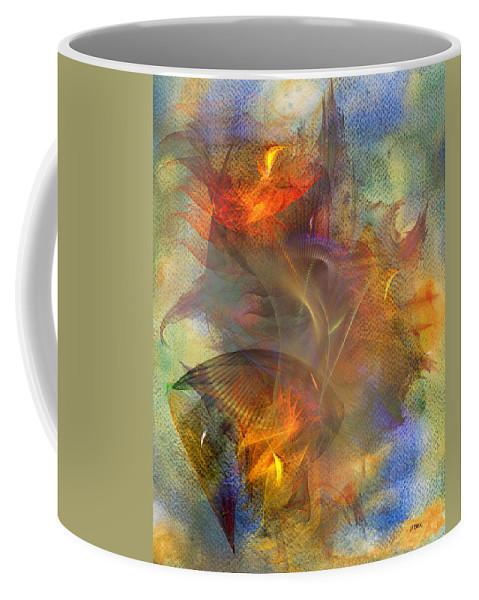 Autumn Ablaze Coffee Mug featuring the digital art Autumn Ablaze by John Robert Beck