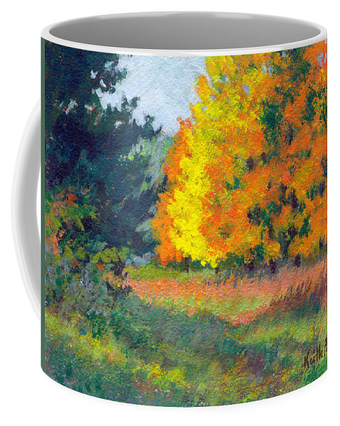 Landscape Coffee Mug featuring the painting Autumn Etude by Keith Burgess