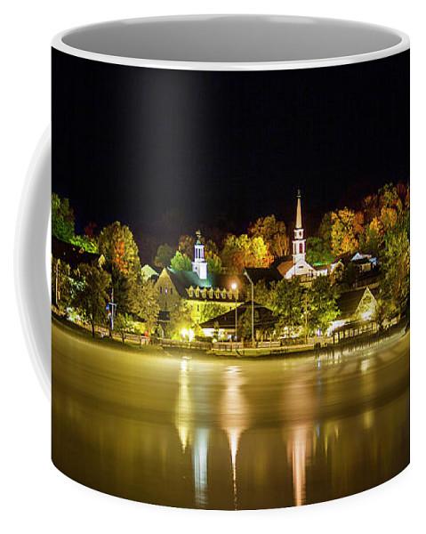 Autumn Coffee Mug featuring the photograph Autumn Night - Meredith, NH by Trevor Slauenwhite