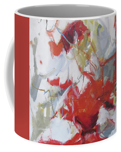 Band Day Coffee Mug featuring the painting Band Day by Chris Gholson