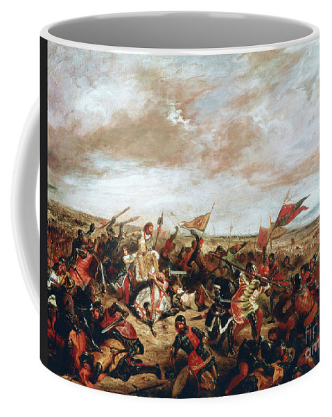 Poitiers Coffee Mug featuring the painting Battle of Poitiers on September 19, 1356 by Ferdinand Victor Eugene Delacroix