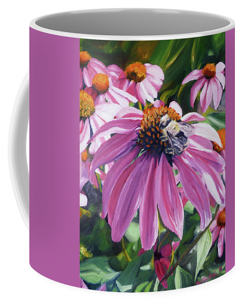 Bee Coffee Mug featuring the painting Bee Conscious by Brittany Bert Selfe