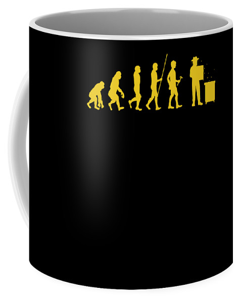 Bee Keeping Coffee Mug featuring the digital art Beekeeper Evolution Honey Bee Farmer Honeycomb Farming Apiarist by Thomas Larch