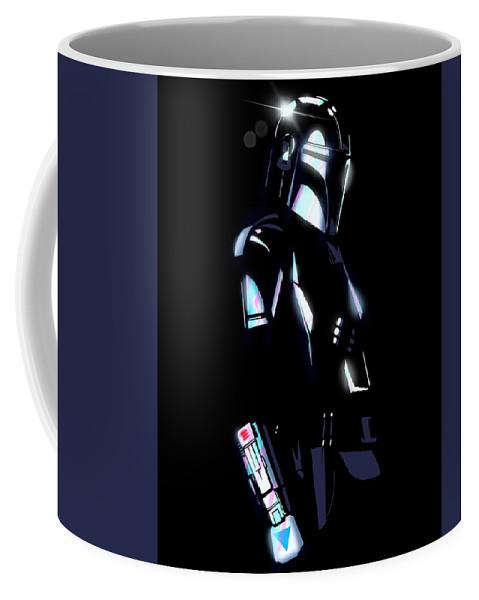 Show Coffee Mug featuring the drawing Beskar Armor by Ludwig Van Bacon