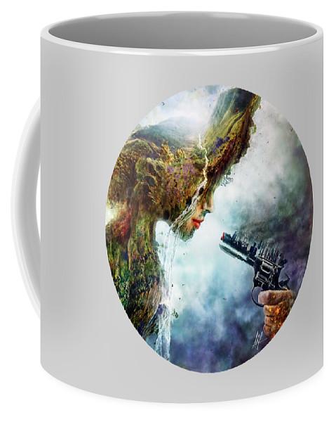 Betrayal Coffee Mug featuring the digital art Betrayal by Mario Sanchez Nevado
