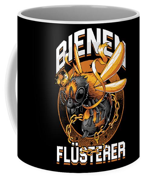 Bee Coffee Mug featuring the digital art Bienen Flsterer Bee Beekeeper Honeycomb Gift by Thomas Larch