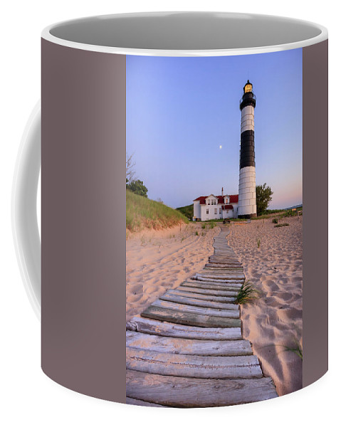 3scape Photos Coffee Mug featuring the photograph Big Sable Point Lighthouse by Adam Romanowicz