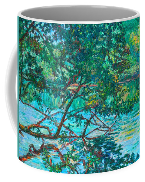 Landscape Coffee Mug featuring the painting Bisset Park by Kendall Kessler