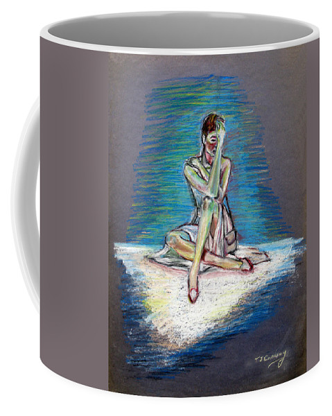 Woman Coffee Mug featuring the painting Bittersweet by Tom Conway