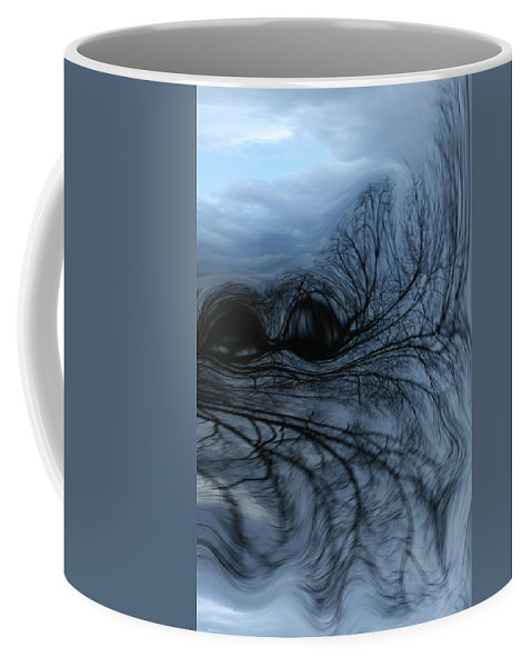 Tree Art Coffee Mug featuring the photograph Black and blue by Linda Sannuti
