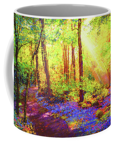 Landscape Coffee Mug featuring the painting Bluebell Blessing by Jane Small